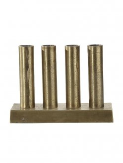 Notice Candlestick raw brass 25cm