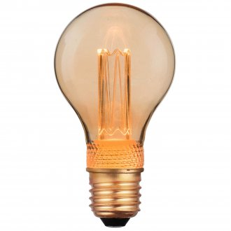 E27 Normal lamp Amber deco 2.3W dimmable
