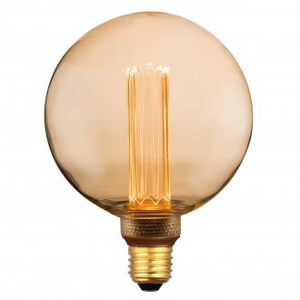 E27 Globe lamp 125mm Amber deco dimmable
