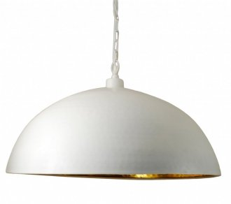 Dome ceiling lamp 62cm white