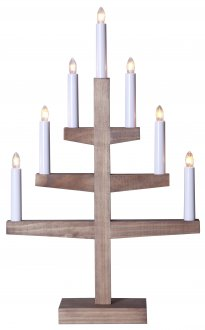 Trapp 7L candlestick brown stain