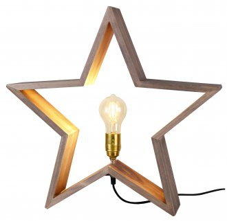 Lysekil tree star 52cm brown