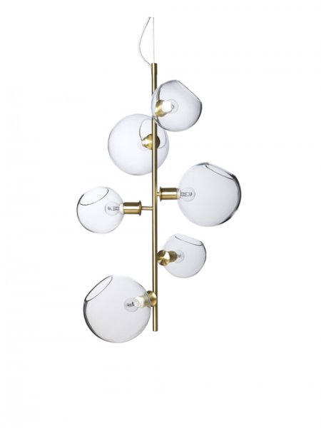 Göte ceiling light brass