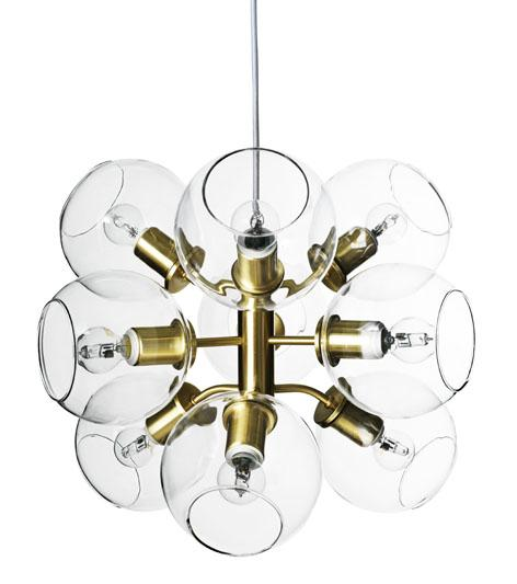 Tage ceiling lamp brass