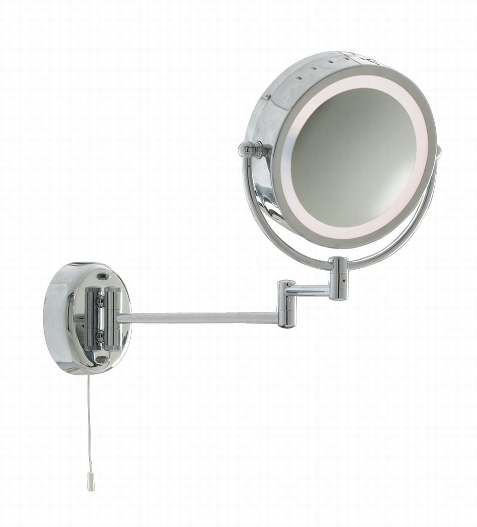 Bathroom mirrors with magnification
